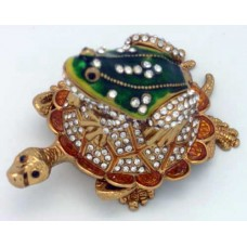 JF3384 Frog on-top of Turtle Jewelry Case