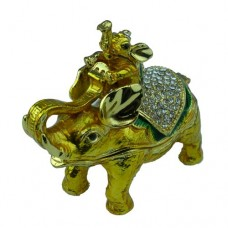 JF3611 M Golden Elephant Jewelry Case