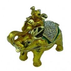 JF3611 M Golden Elephant Jewelry Case