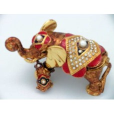 JF3626 Golden Elephant Jewelry Case