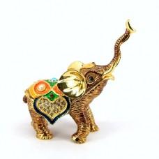 JF3644 Golden Elephant Jewelry Case