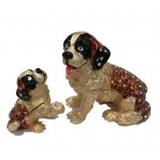 JF3864 Dog & Puppy Jewelry Case