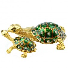JF3931 Baby & Mother Turtle Jewelry Case