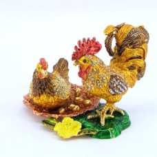 JF4006 Rooster Chicken Jewelry Case