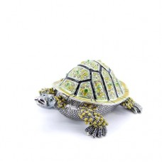 JF4270 Green Turtle Jewelry Case
