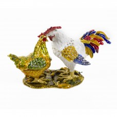 JF4351 Rooster Chicken Jewelry Case