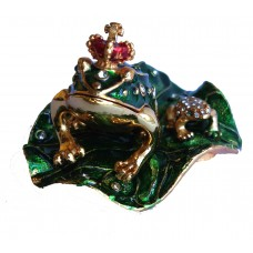 JF4382 Green Frog  Jewelry Case