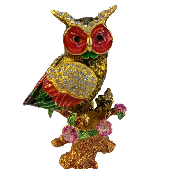 JF4935 Owl Jewelry Case