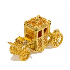 JF4993 Golden Carriage Car  Jewelry Case