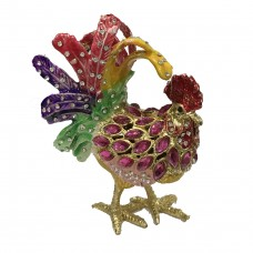 JF8040 pink  Chicken Rooster Jewelry Case