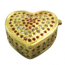 JF8052 Gold Heart Jewelry Case