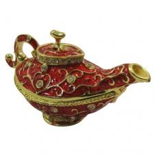JF8227 vintage Red Enamel Aladdin Lamp