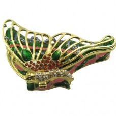 JF8372 Gold Colorful butterfly jewelry Case