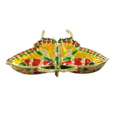 JF8402  Green Colorful butterfly Jewelry Case