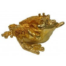 JF8797 Golden Fortune Toad Creature Jewelry Case